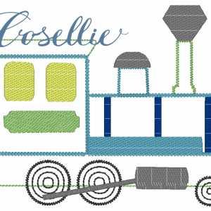 Vintage train embroidery design, Train, Vintage train, Baby, Vintage stitch embroidery design, Applique, Machine embroidery design, Blanket stitch, Beanstitch, Vintage, Boy