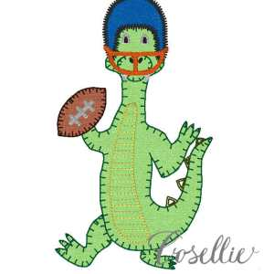 Gator football helmet embroidery design, Football, Gator, Florida, Vintage stitch embroidery design, Applique, Machine embroidery design, Blanket stitch, Beanstitch, Vintage