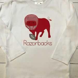 Razorback embroidery design, Football, Wild pig, Arkansas, Pig, Vintage stitch embroidery design, Applique, Machine embroidery design, Blanket stitch, Beanstitch, Vintage, Football helmet