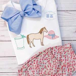 Horse derby girl applique embroidery design, Kentucky derby, Horse embroidery design, Mint julep, Hat, Jockey shirt, Horse racing, Vintage stitch embroidery design, Applique, Machine embroidery design, Blanket stitch, Beanstitch, Vintage