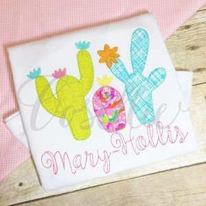 Cactus embroidery design, Cactus, Cactus applique, Summer, Vintage stitch embroidery design, Applique, Machine embroidery design, Blanket stitch, Beanstitch, Vintage