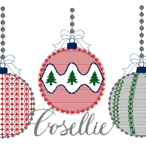 Christmas ornaments embroidery design, Vintage Christmas, Winter, Vintage stitch embroidery design, Applique, Machine embroidery design, Blanket stitch, Beanstitch, Vintage