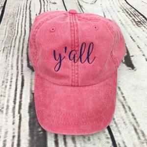 Y'all baseball cap, Y'all baseball hat, Y'all hat, Y'all cap, Personalized cap, Custom baseball cap, Southern, Slang, Phrase