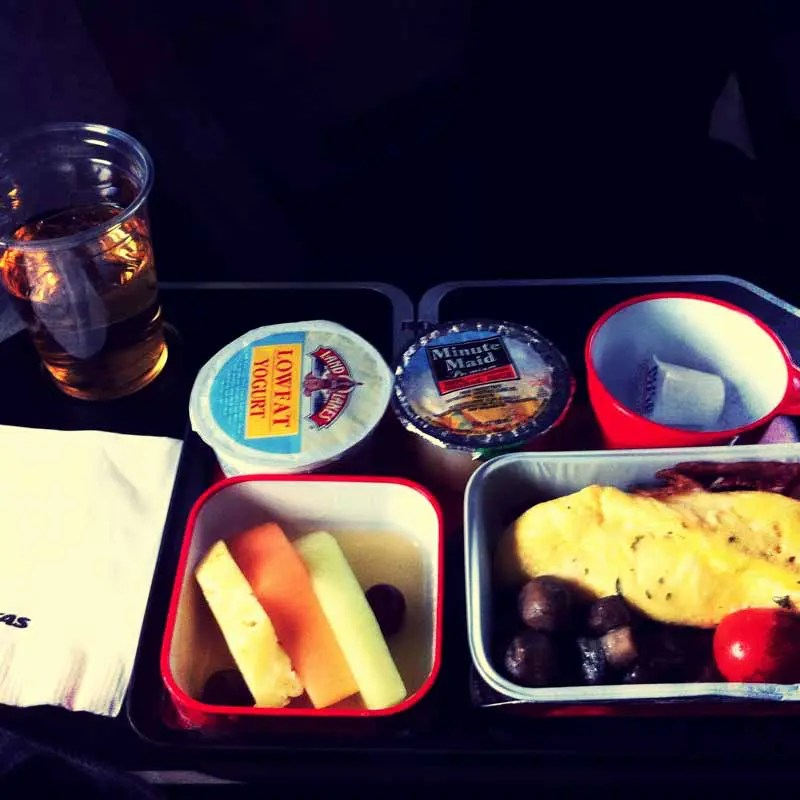 Air plane breakfast.