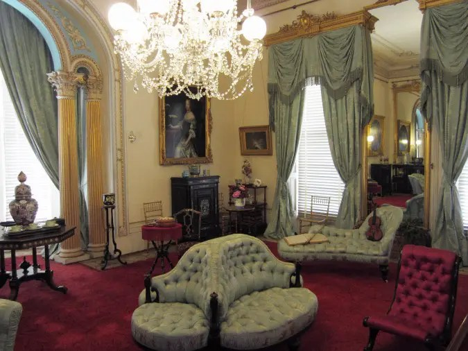 The drawing room of Werribee Mansion.