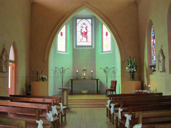 A small chapel interior.