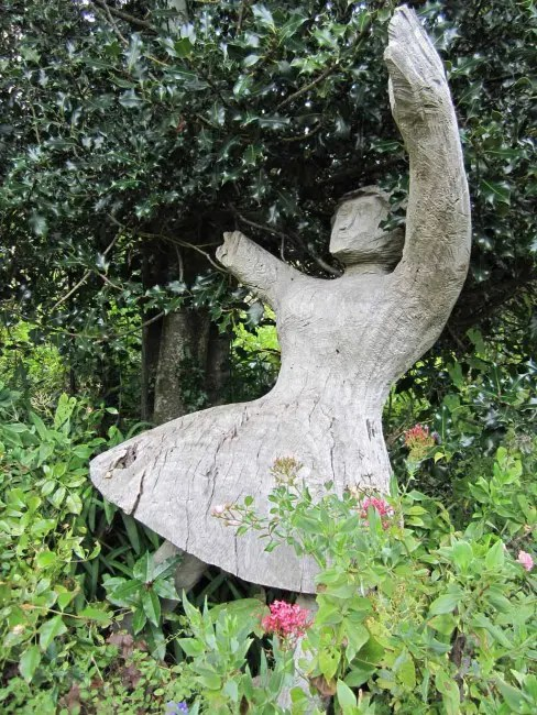 A garden statue.