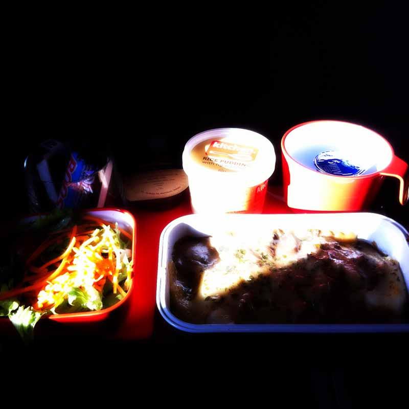 Qantas food.