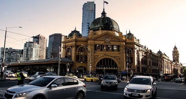 Flinders Street Station. Melbourne tourist attractions.