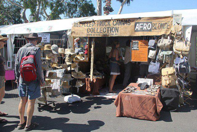 AfroBlonde stall at Bikefest.
