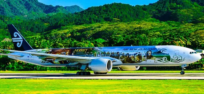 Air New Zealand airplane.