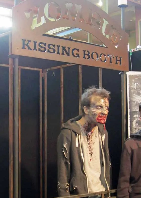Zombie kissing booth.