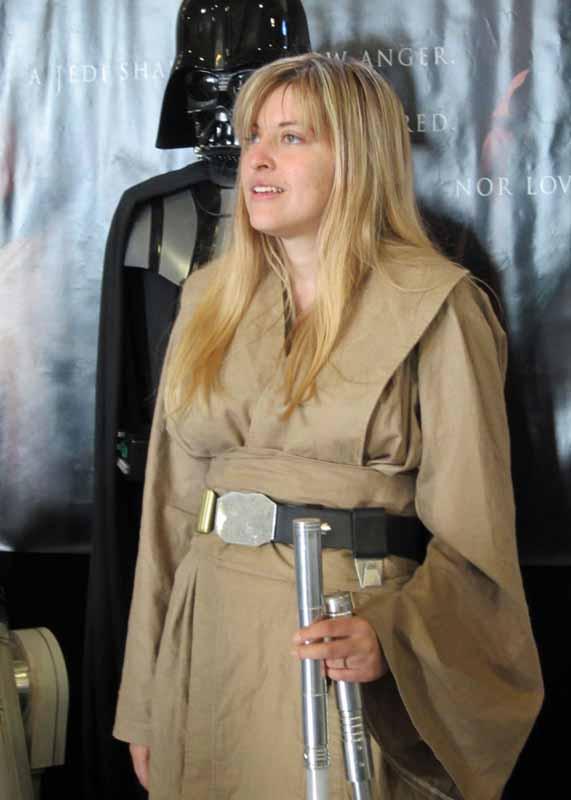 Woman in Star Wars costume.