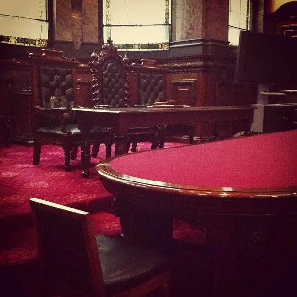 The Council Chambers in Melbourne Town Hall.