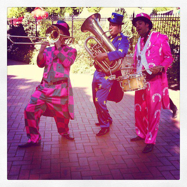 Entertainers at Flemington.