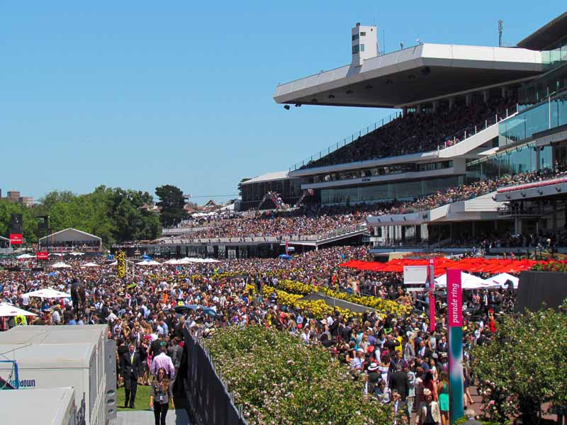 Melbourne Cup general admission area.