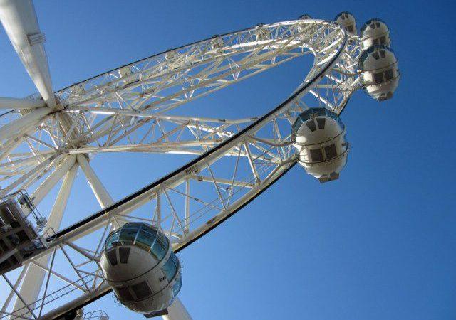 The Melbourne Star Ferris wheel.