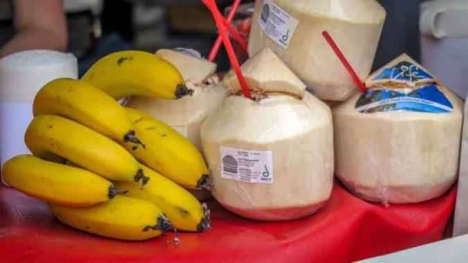 Coconuts and bananas.