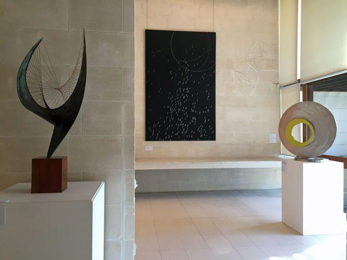 Modern sculpture at the Heide Museum of Modern Art.