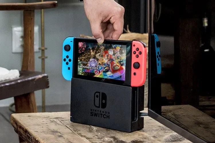Nintendo Switch on its console.