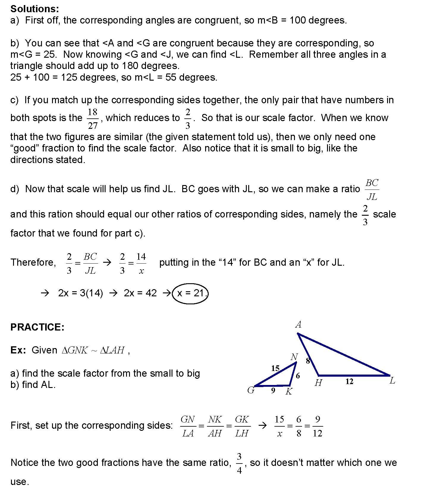Cosgeometry Lesson 6 06 Using Similar Polygons