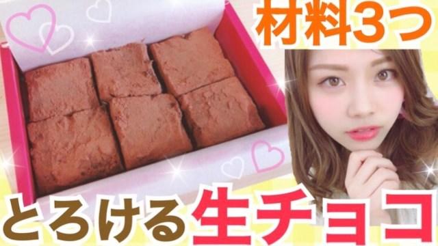 【簡単レシピ】材料3つ!基本の生チョコの作り方◆バレンタインにとろける明治のチョコレート♡池田真子 Valentine Chocolate Cooking