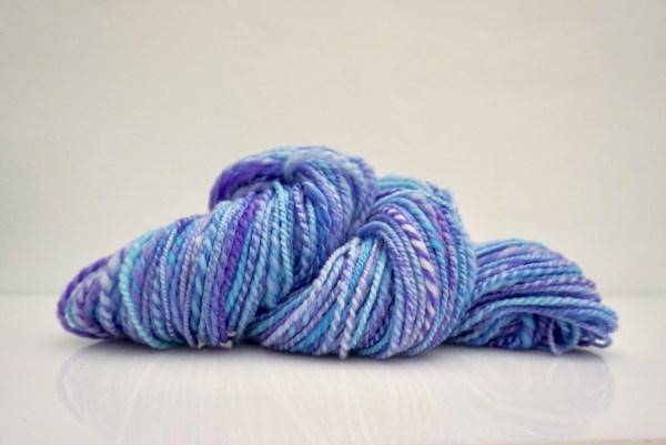 Hand Spun Yarn Blue Merino