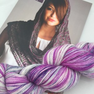 Lacy shale knitting kit