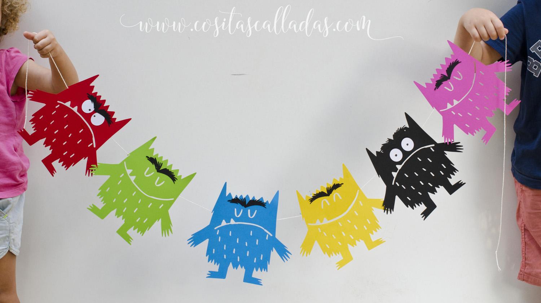 Guirnalda del Monstruo de Colores para imprimir - Susurros y otras ...