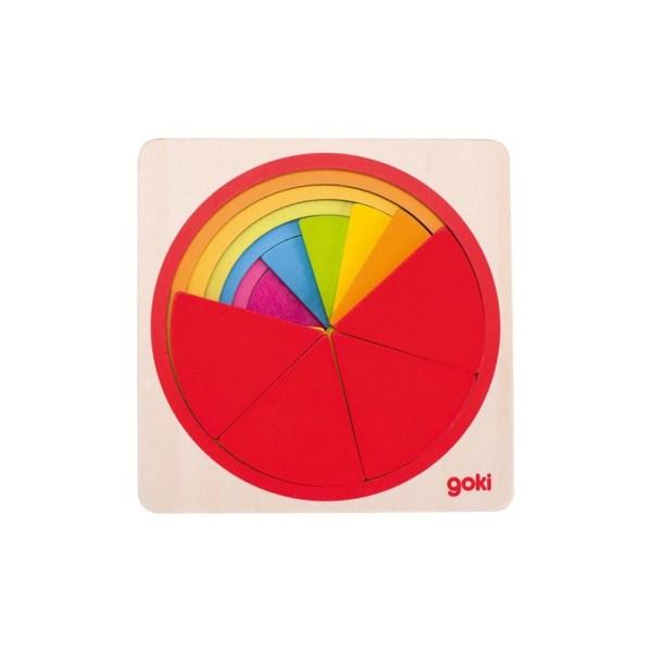 Goki - Puzzle Circular de Madera de 21 piezas