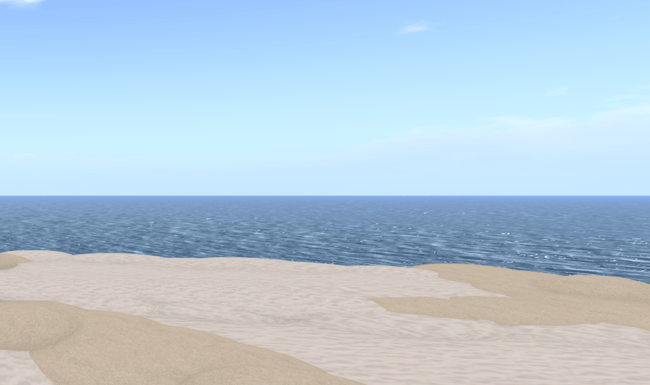 Click to visit beach in SecondLife