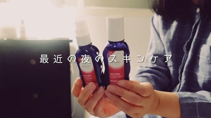 【プラザ購入品】最近の夜のスキンケア //  ヴェレダのワイルドローズ化粧水と乳液を買いました
