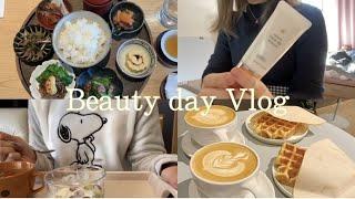 【Vlog】1日美容day¦まつげパーマ¦コスメ紹介¦低糖質ランチ¦Blue bottle coffee¦