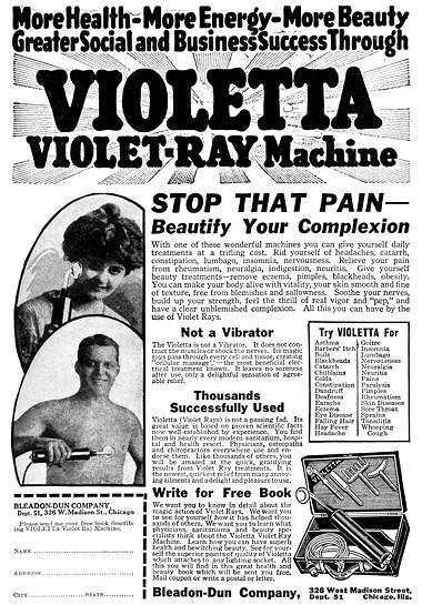 1920 Violetta Violet Ray