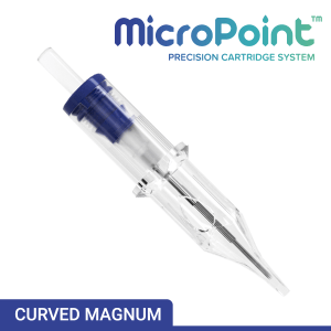 MicroPoint Curved Magnum Long Taper PMU Precision Needle Cartridge