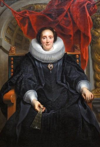 Lady in black dress painting woman Rijksmuseum