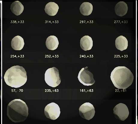 * Cliché astronomique de Pallas & Pinceau à sec *