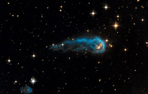 The Tadpole and the Wriggler  |  Credit: ESA