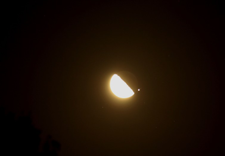 2013-02-18: Moon, Ganymede, Jupiter, Io, Callisto, Europa.