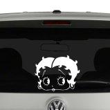 Betty Boop Headshot Vinyl Decal Window