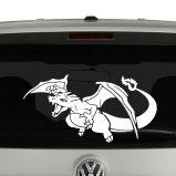 Charizard Pokemon Inspired Vinyl Decal Sticker Car