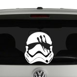 Finn Stormtrooper Helmet Star Wars Inspired Vinyl Decal Sticker