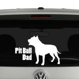 Pitbull Dad Vinyl Decal Sticker