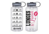 Water Tracker – Lunges and Lipstick Sports Water Bottle 34 Oz