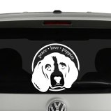 Peace Love Puppies Beagle Dog Lovers Vinyl Decal Sticker