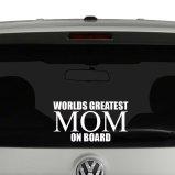 Worlds Greatest Mom Vinyl Decal Sticker