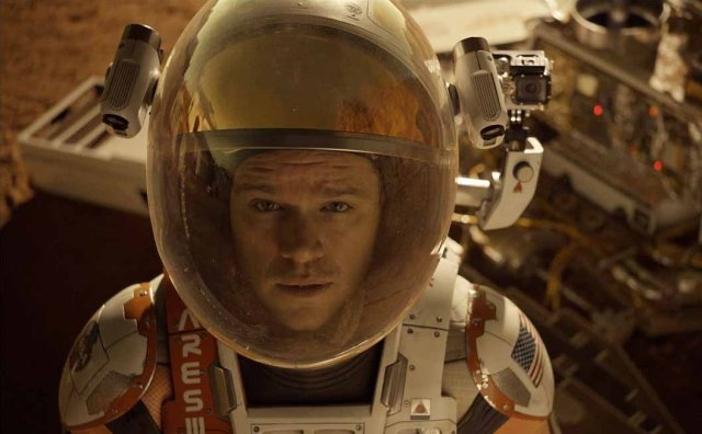 "Image: Matt Damon in ""The Martian"""