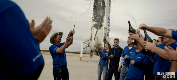 Image: Jeff Bezos and champagne