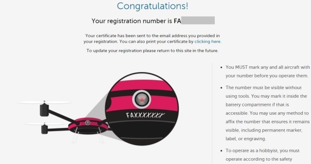 Image: Drone registration