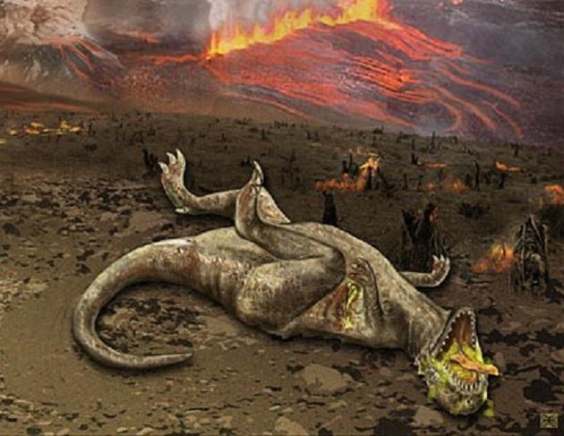 Image: Dying dinosaur